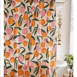 Shower curtain with peaches 😜🍑🍑🍑